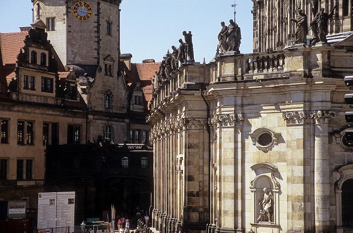 Dresden Innere Altstadt: Residenzschloss, Hausmannsturm, Katholische Hofkirche
