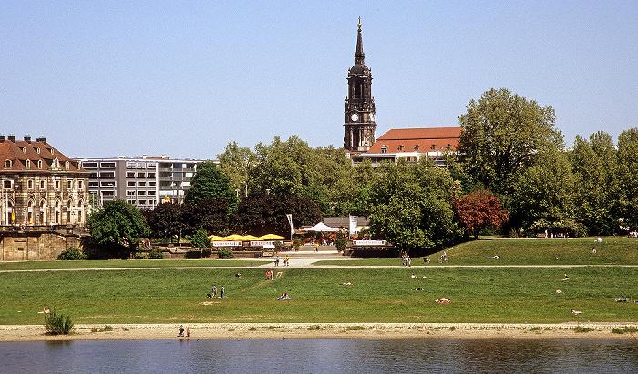 Dresden Innere Neustadt: Neustädter Elbufer, Dreikönigskirche Blockhaus