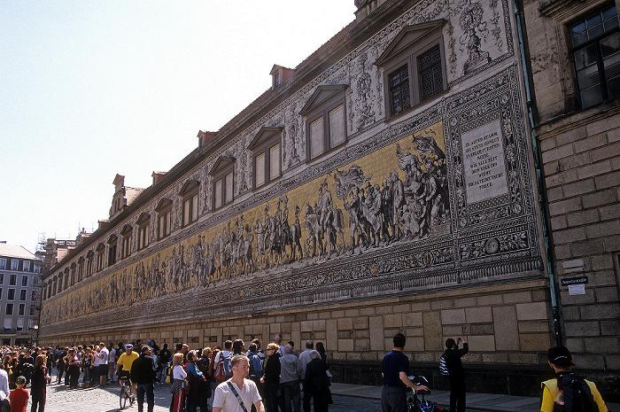 Dresden Innere Altstadt: Augustusstraße: Fürstenzug