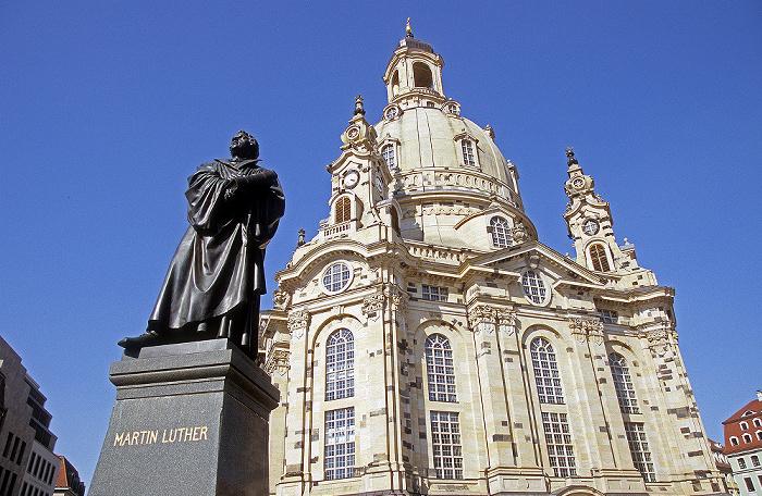 Dresden Innere Altstadt: Martin-Luther-Denkmal, Frauenkirche