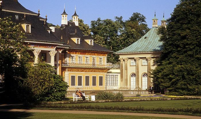Dresden Schlosspark Pillnitz: Lustgarten, Bergpalais