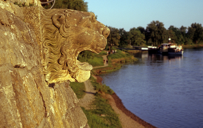Dresden Schlosspark Pillnitz: Anlegestelle, Elbe