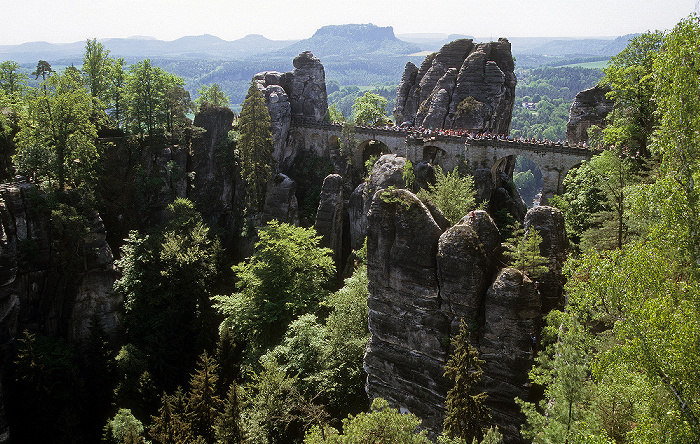 Sächsische Schweiz Bastei: Basteibrücke Lilienstein