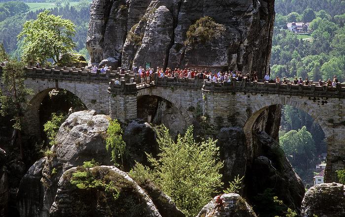 Sächsische Schweiz Bastei: Basteibrücke