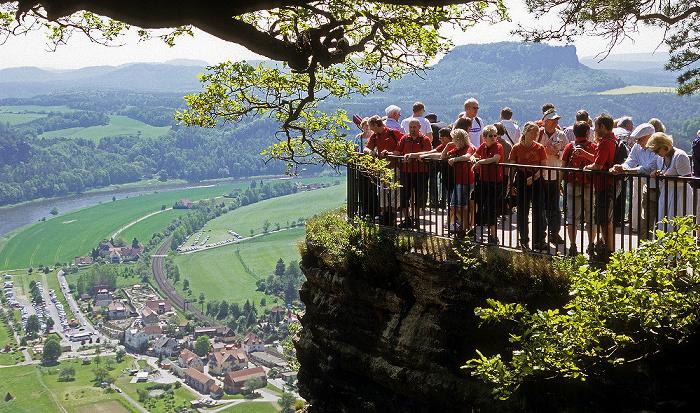 Sächsische Schweiz Bastei: Aussichtsplattform Lilienstein