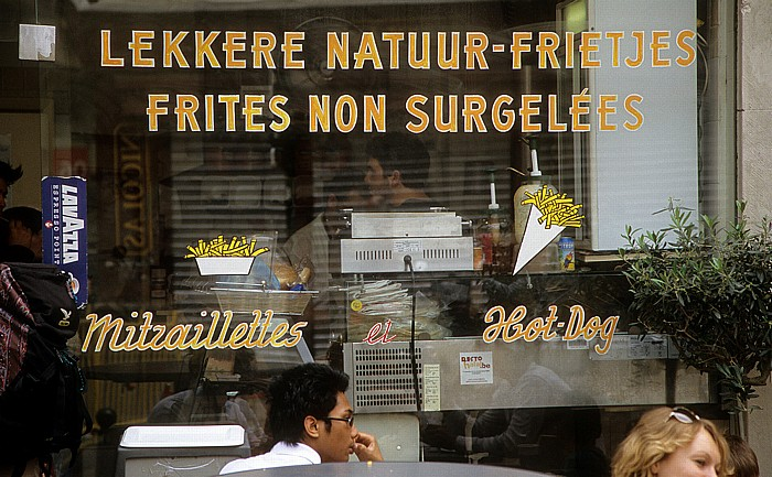 Brüssel Rue du Marché aux Poulets (Kiekenmarkt): Frittenbude