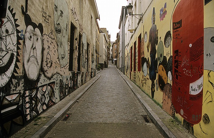 Brüssel Comic-Wandgemälde