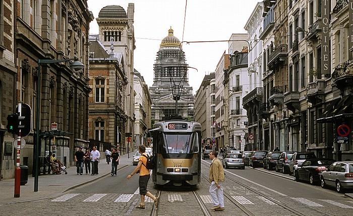 Brüssel Rue de la Régence (Regentschapsstraat) Justizpalast