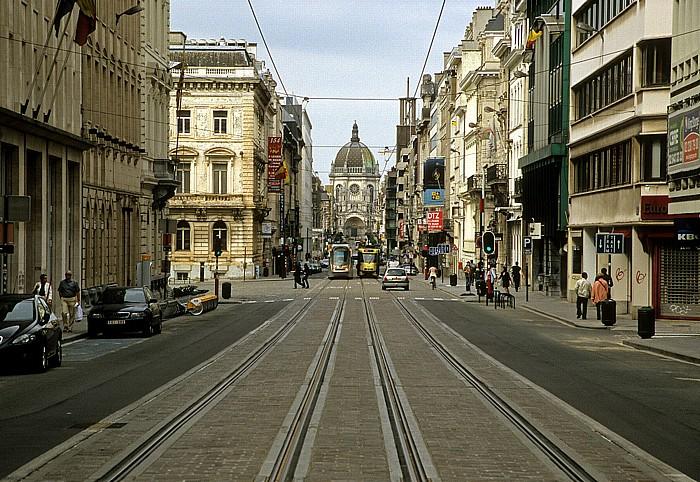Brüssel Rue Royale (Koningsstraat) Église Royale Sainte-Marie