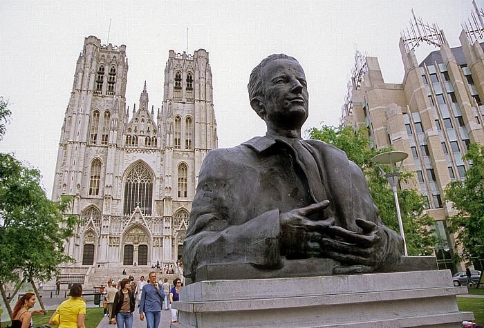 Brüssel Denkmal für König Baudouin Kathedrale St. Michel