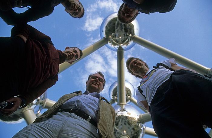 Brüssel Atomium: Ralph, Jörg, Uwe, Boris, Jürgen