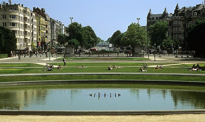Brüssel Jubelpark (Parc du Cinquantenaire), Avenue de Tervueren Belliard Tunnel