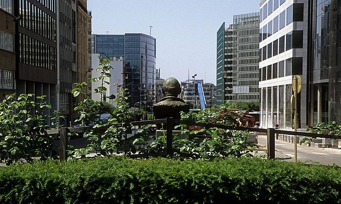 Brüssel Jubelpark (Parc du Cinquantenaire), Rue de la Loi Europaviertel Robert-Schuman-Denkmal