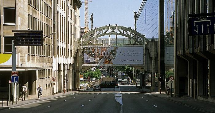 Brüssel Europaviertel: Rue Belliard Delors-Gebäude Van-Maerlant-2-Gebäude