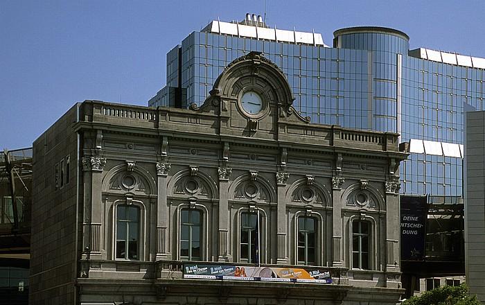 Europaviertel: Altes Gebäude des Bahnhofs Brüssel-Luxemburg  Bahnhof Brüssel-Luxemburg  Espace Léopold