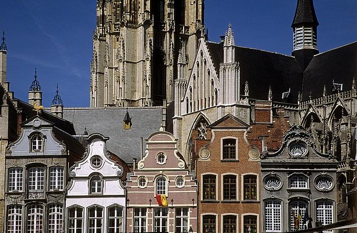 Mechelen Marktplatz (Grote Markt): Zunfthäuser Kathedrale des Heiligen Romuald
