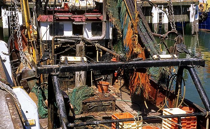 Ostende Hafen: Fischereiboot