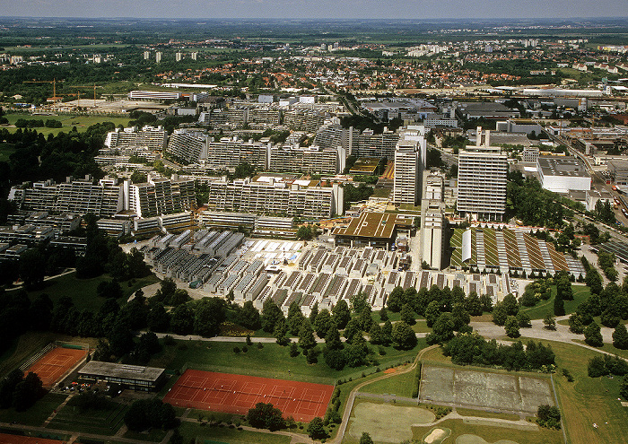 München Blick vom Olympiaturm: Olympisches Dorf