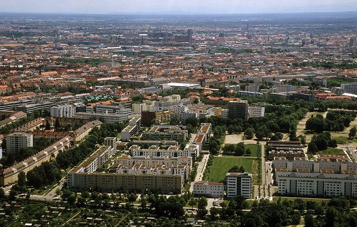 Blick vom Olympiaturm München 2009