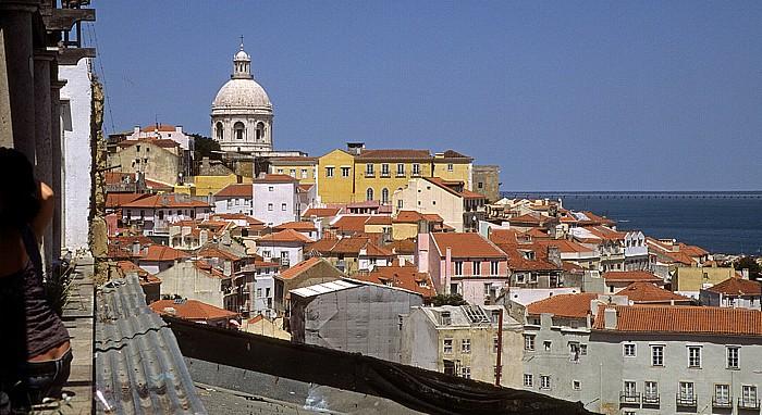 Alfama: Blick vom Miradouro de Santa Luzia Lissabon 2009