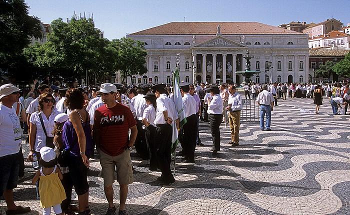 Baixa: Rossio (Praça de D. Pedro IV.), Teatro Nacional D. Maria II Lissabon 2009