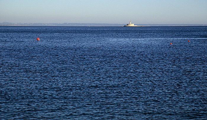 Oeiras Costa de Lisboa: Atlantik: Leuchtturm von Bugio (Farol do Bugio, Forte de São Lourenço da Cabeça Seca)