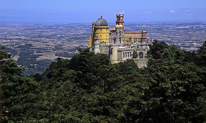 Sintra Parque da Pena: Blick vom Cruz Alta auf den Palácio Nacional da Pena