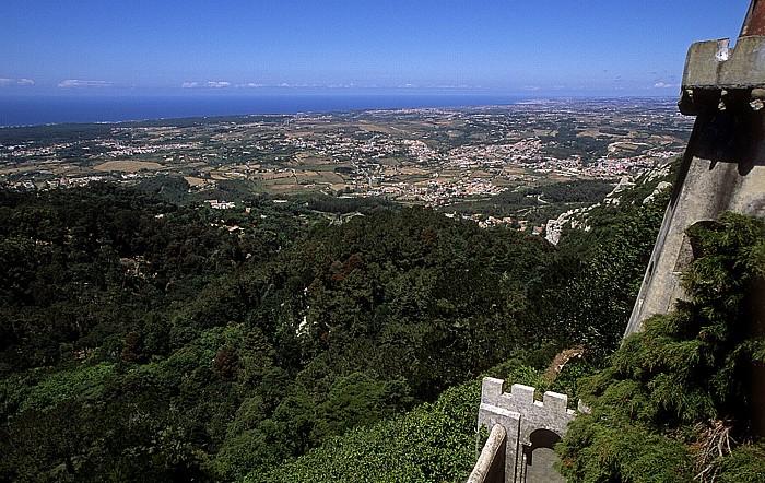 Sintra Blick vom Palácio Nacional da Pena: Parque da Pena