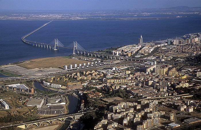 Tejo, Ponte Vasco da Gama, Torre Vasco da Gama Lissabon 2009