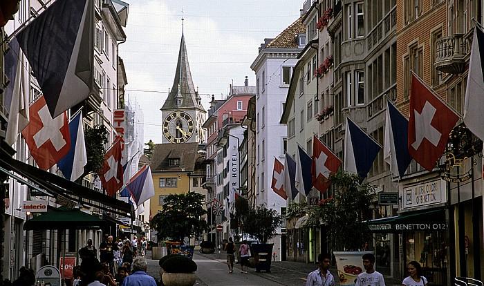 Altstadt: Rennweg (Fußgängerzone) Zürich