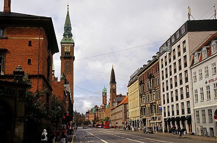 Kopenhagen Andersens Boulevard Palace Hotel Rathaus Statue der 2 Lurenbläser