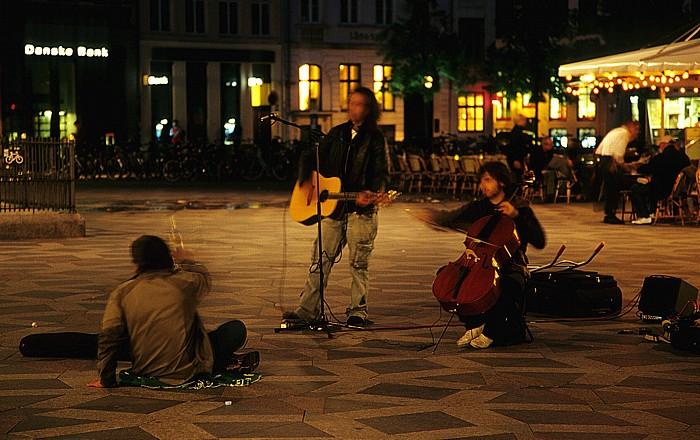 Kopenhagen Strøget (Amagertorv): Straßenmusikanten