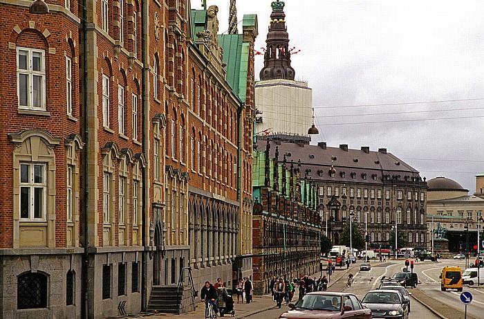 Kopenhagen Slotsholmen: Børsgade Alte Börse Palastkapelle Christiansborg Schloss Christiansborg