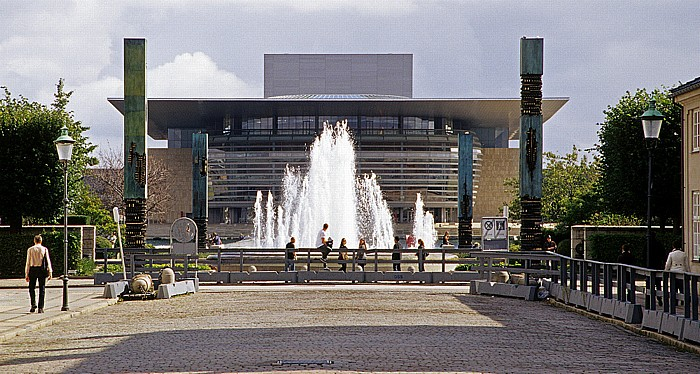 Kopenhagen Amaliehaven: Springbrunnen Opernhaus
