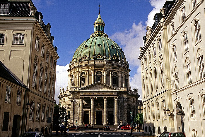 Kopenhagen Frederiksgade, Marmorkirche (Frederikskirche / Frederiks Kirken)