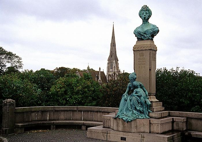 Kopenhagen Langelinie: Denkmal der dänischen Prinzessin Marie St.-Albans-Kirche