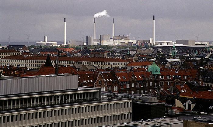 Kopenhagen Blick vom Runden Turm (Rundetårn): Industrieanlagen Runder Turm