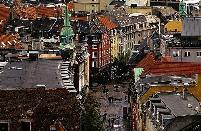 Kopenhagen Blick vom Runden Turm (Rundetårn): Købmagergade Runder Turm