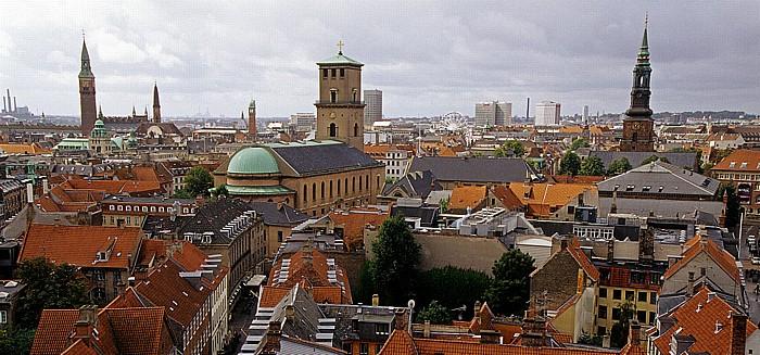 Kopenhagen Blick vom Runden Turm (Rundetårn) Frauenkirche Rathaus Runder Turm St.-Petri-Kirche