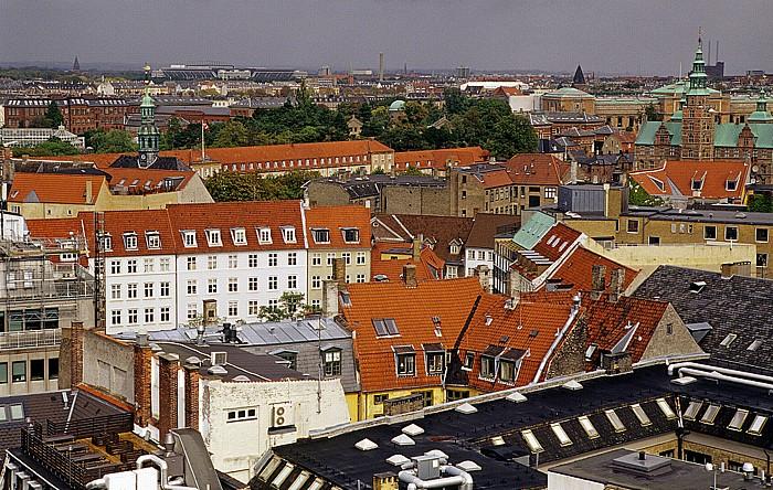 Kopenhagen Blick vom Runden Turm (Rundetårn) Kaserne der königlichen Leibgarde Parken Runder Turm Schloss Rosenborg