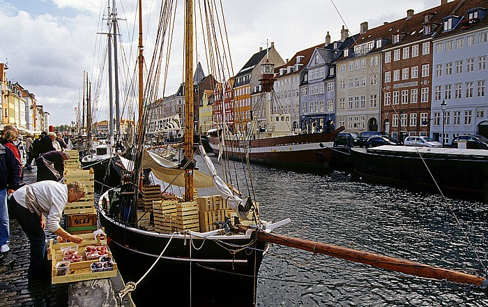 Kopenhagen Nyhavn: Obstverkauf