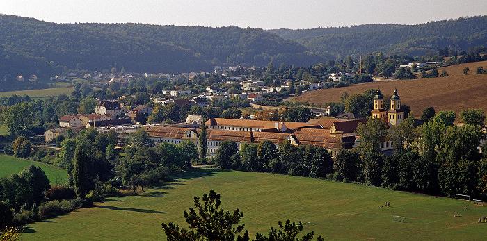 Eichstätt Blick von der Willibaldsburg: Altmühltal mit Kloster Rebdorf