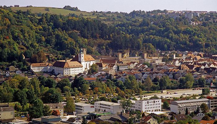 Eichstätt Blick von der Willibaldsburg Kloster St. Walburg