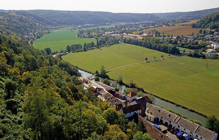 Eichstätt Blick von der Willibaldsburg: Altmühltal Kloster Rebdorf Privatbrauerei Hofmühl