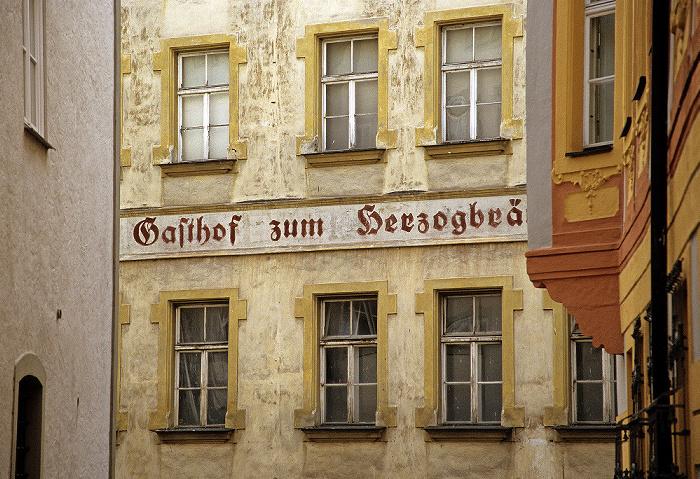 Eichstätt Altstadt: Pfahlstraße: Ehem. Gasthof zum Herzogbräu