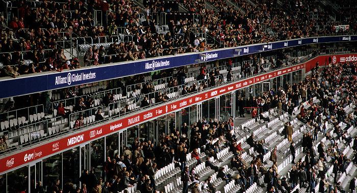 München Allianz Arena: Westtribüne (Haupttribüne): Logen