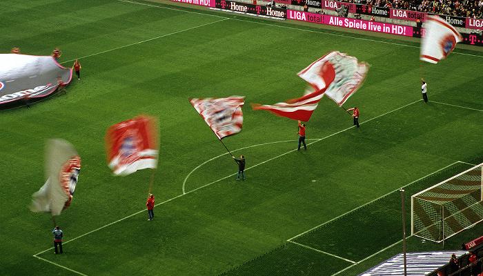 München Allianz Arena: Fahnenschwenker