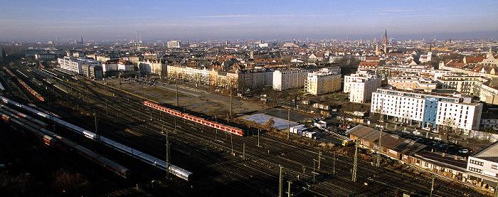 München Blick vom Technischen Rathaus: Berg am Laim / Haidhausen Ostbahnhof Technisches Rathaus
