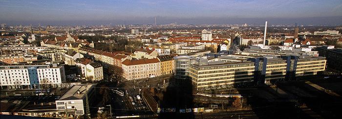München Blick vom Technischen Rathaus: Haidhausen Technisches Rathaus