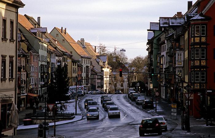 Rottweil Altstadt: Hochbrücktorstraße mit Bürgerhäusern